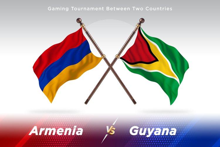 Armenia vs Guyana Two Flags example image 1