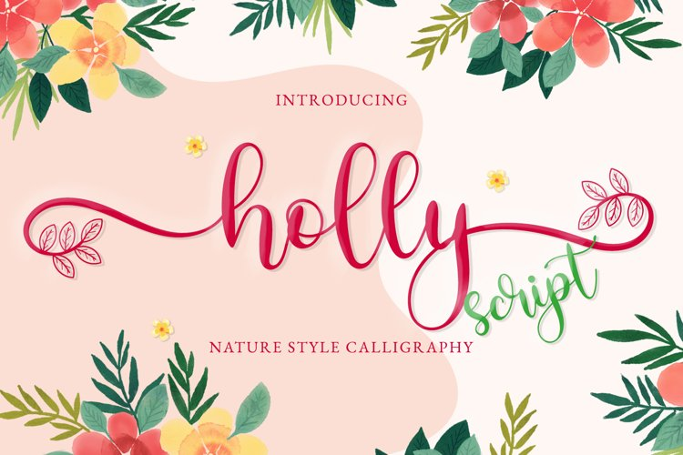 Holly Script example image 1