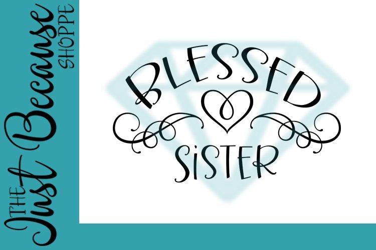 Blessed Sister SVG File, Family Design - 0068