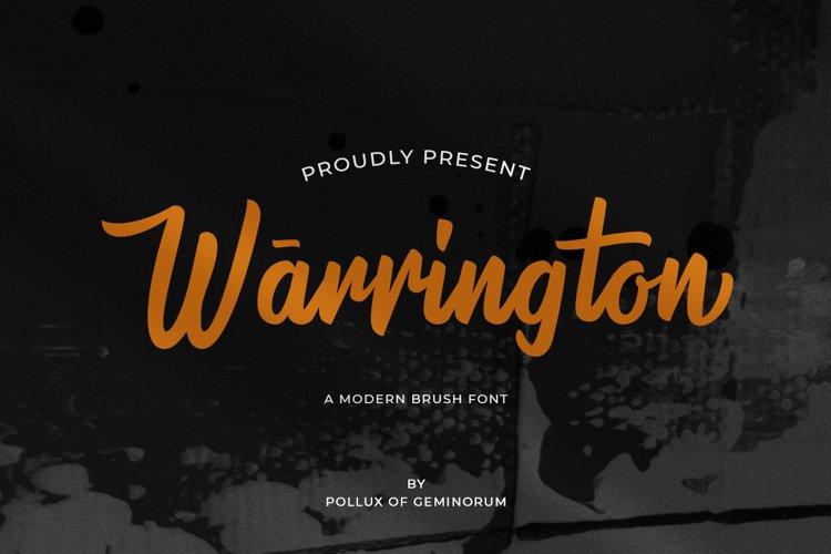 Warrington - Modern Brush Font example image 1