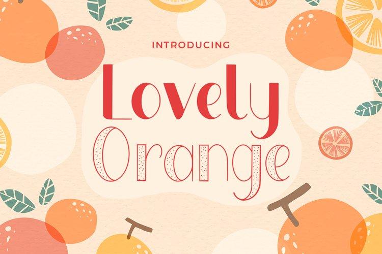 Lovely Orange example image 1