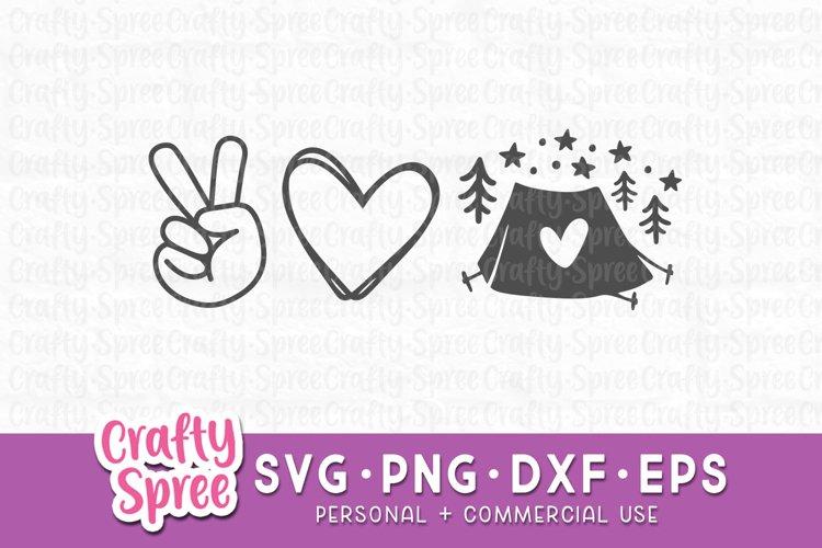 Peace Love Camping SVG - Camping SVG - Camping Shirt SVG