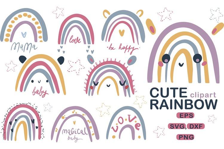 Cute Baby Rainbow SVG, PNG, Nursery Rainbow