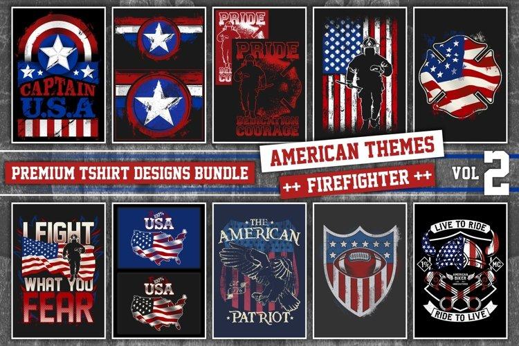 Bundle Premium T-Shirt Designs - American Fire.Dept - Vol 2