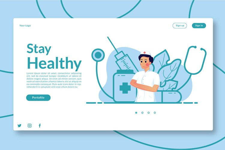 Stay Healthy Landing Page example image 1