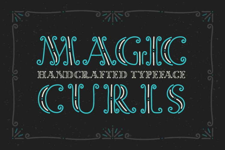 Magic Curls font example image 1