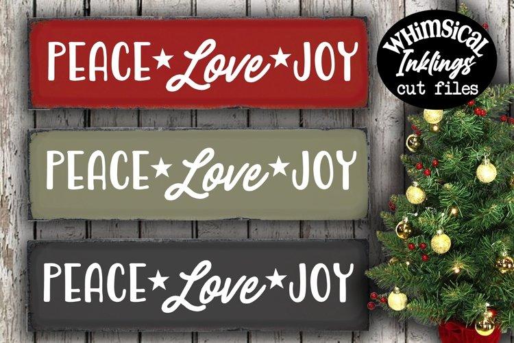 Peace Love Joy SVG example image 1