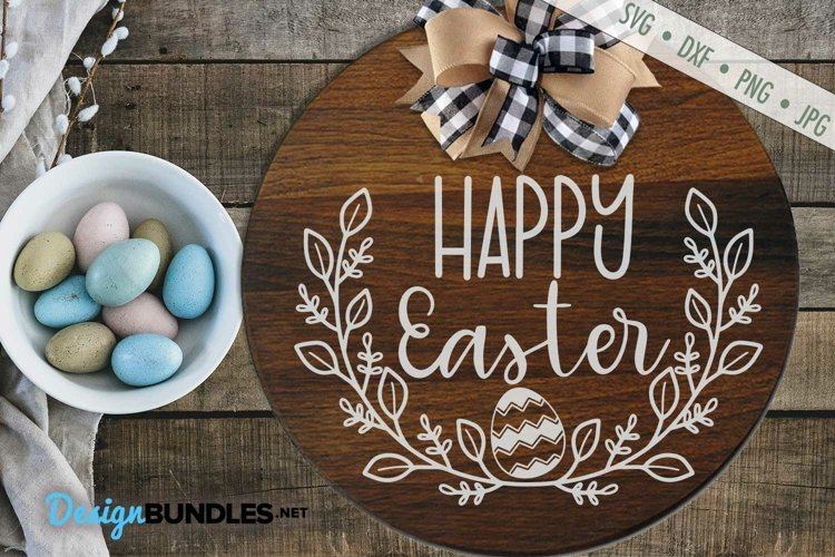 Happy Easter SVG | Easter Wreath SVG | Easter egg SVG