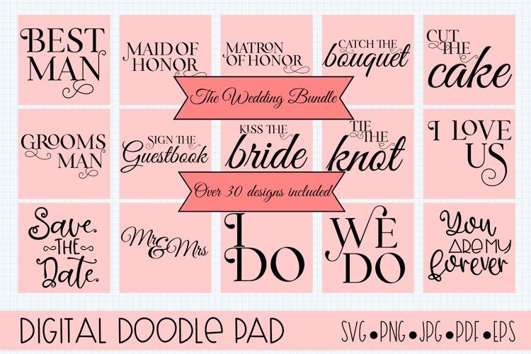 Wedding Bundle SVG files for Silhouette & Cricut example image 1