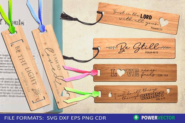 Bible Verse Bookmark Laser Cutting Engraving Pattern Bundle example image 1