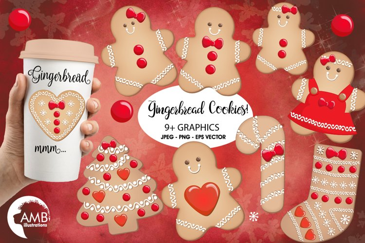 Christmas Cookies clipart, graphics, illustratinos AMB-1502