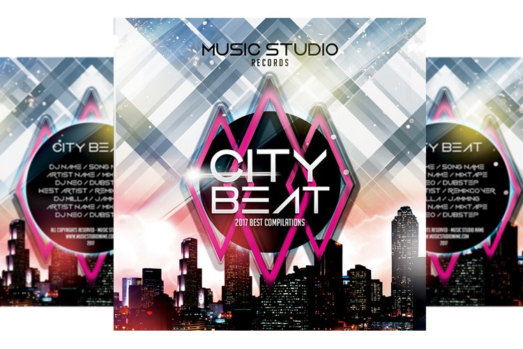 City Beat - CD Cover Template