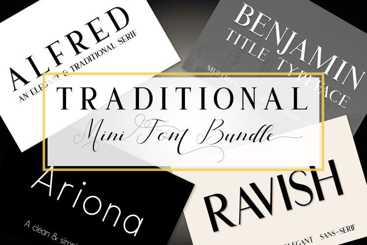 Traditional Mini Font Bundle example image 1