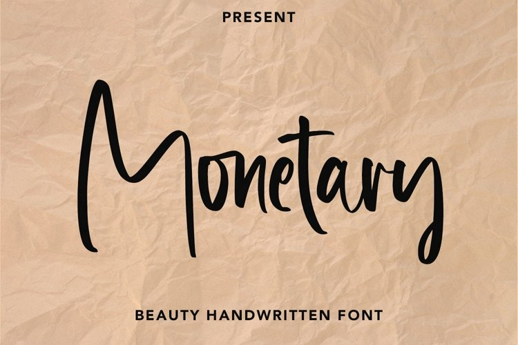 Web Font Monetary - Handwritten Script Font example image 1