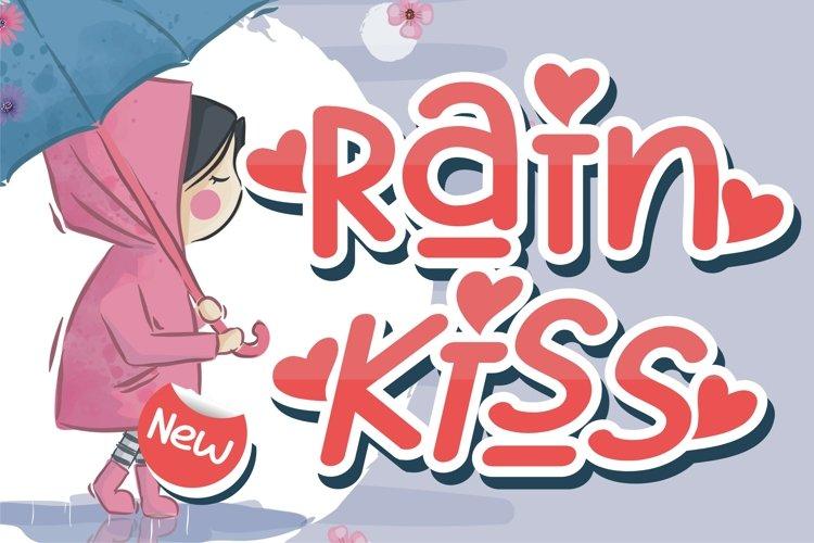 Rain Kiss - Crafting Love Font example image 1