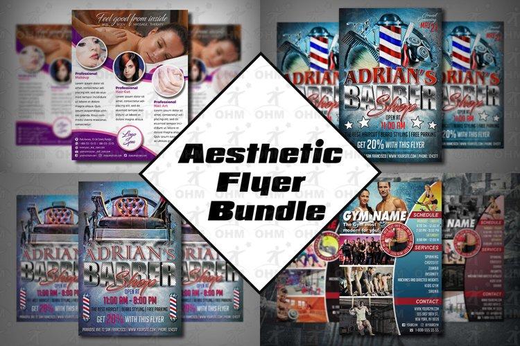 AESTHETIC FLYER BUNDLE| Gym flyer |Spa Flyer | Barber Shop