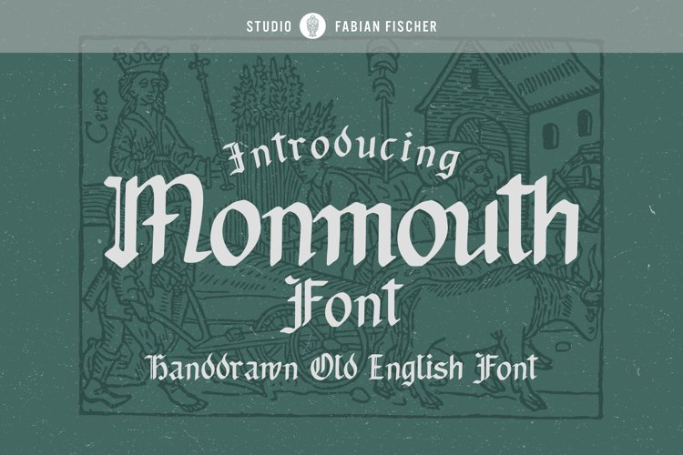 Monmouth Font - Handdrawn example image 1
