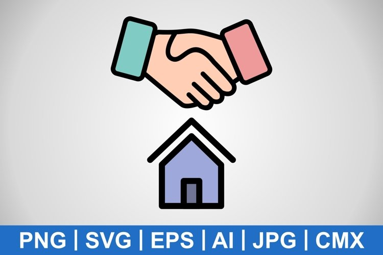 Vector House Deal Icon example image 1