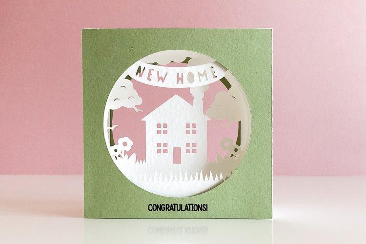 New Home 3D Shadow Box Tunnel Card, Cricut Joy Compatible