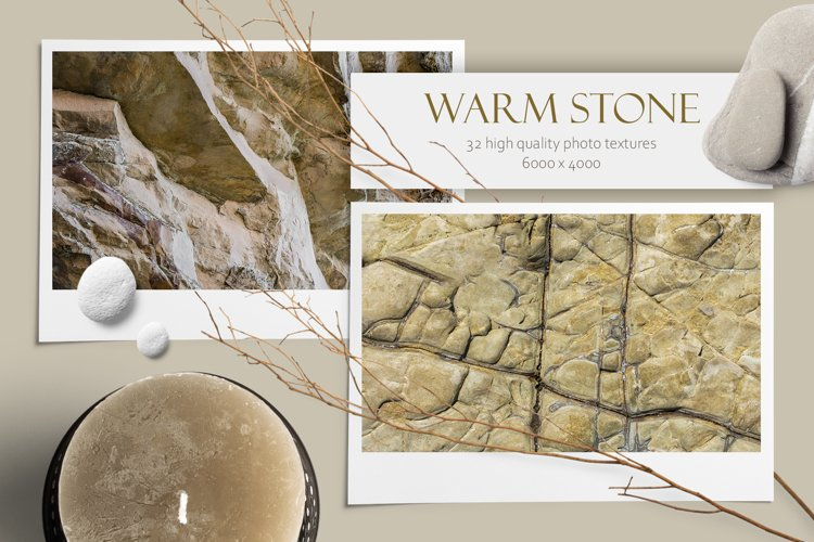 Warm Stone. Texture bundle example image 1