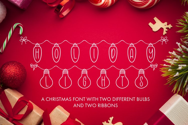 Holiday Lights - A Christmas Font example image 1