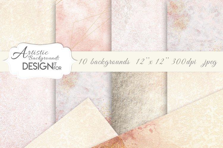 Artistic Backgrounds, Watercolor Textures, Sepia, Beige