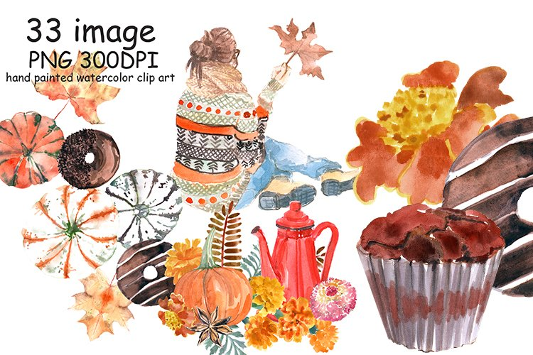 Pumpkin Spice Latte coffee clipart example image 1