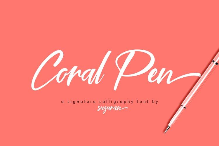 Coral Pen Script example image 1