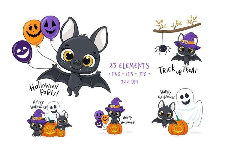 Cute Halloween Clipart PNG, EPS, JPEG, 300 DPI