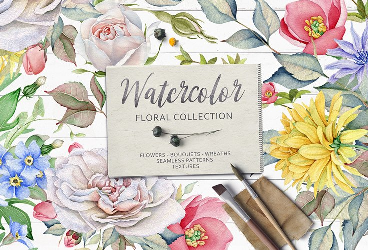 15OFF. Watercolor Floral Collection example image 1
