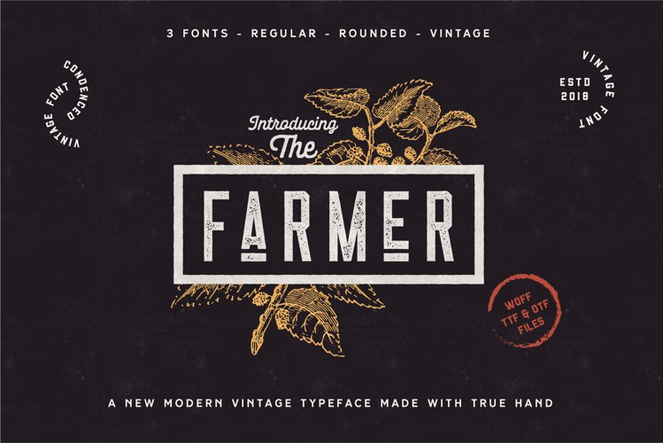 The Farmer Font - Condensed Typeface example image 1