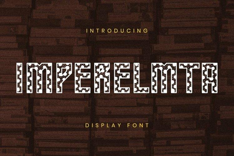Web Font Imperelmta Font example image 1