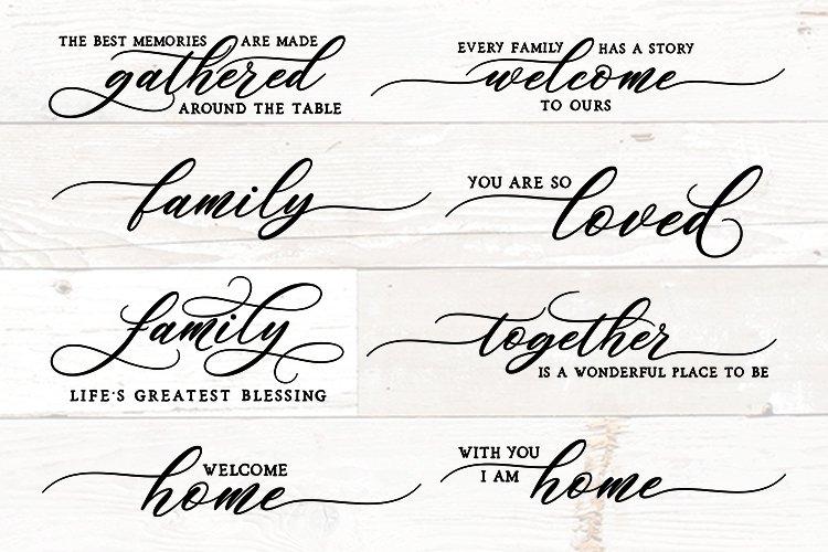 Family Sign Bundle, Family Quotes Bundle, Sign Maker Bundle example image 1