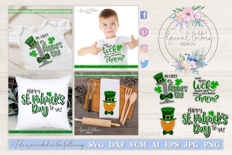 St. Patricks Day Bundle of 4 SVG DXF FCM LL269