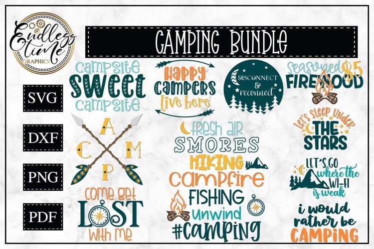 Camping SVG Bundle | 10 Camping Sublimation or SVG Designs
