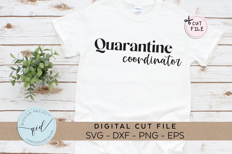 Quarantine Coordinator, Social Distancing SVG, DXF, EPS, PNG example image 1