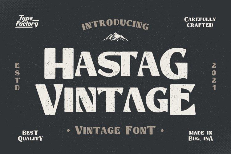 Hastag - Vintage Display Font example image 1
