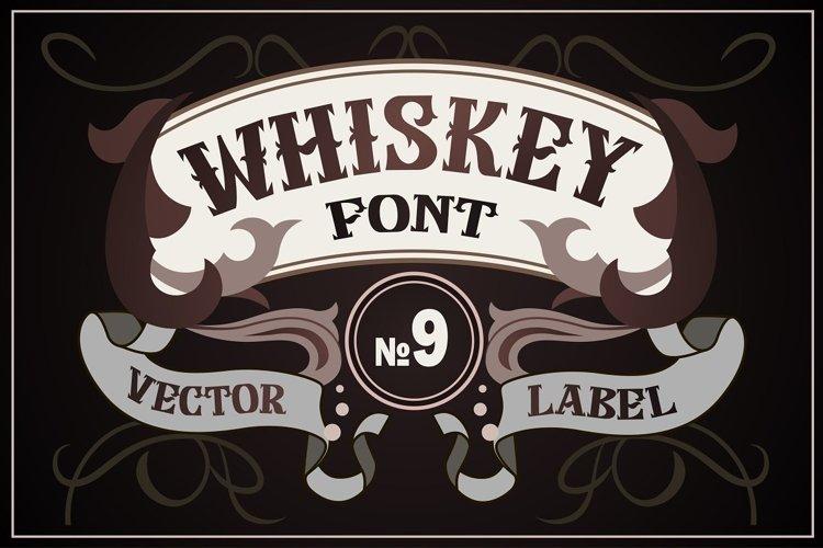 Vintage whiskey style font example image 1