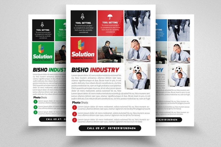 Business Marketing Management Flyers example image 1