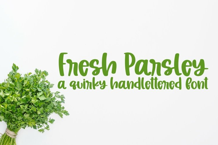 Web Font Fresh Parsley - A Quirky Hand-Lettered Font example image 1
