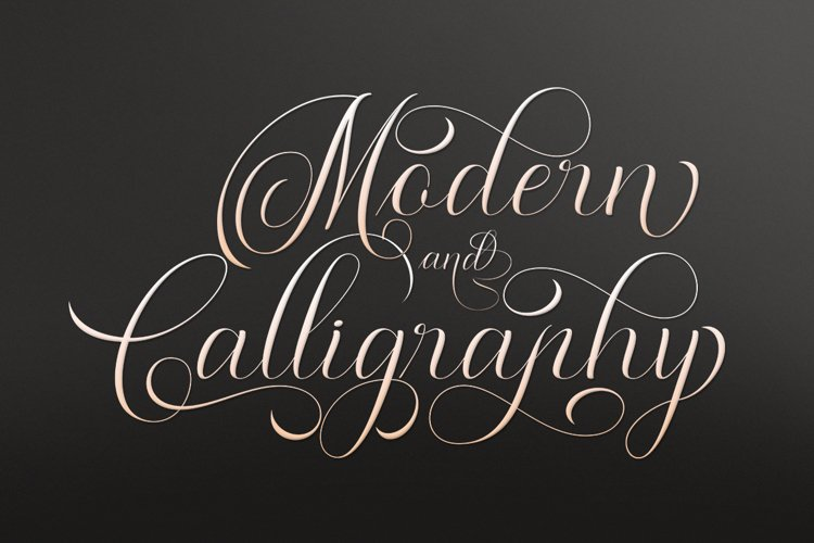 Moderena Script    3 Style example image 1