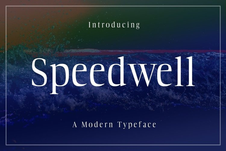 Web Font Speedwell example image 1