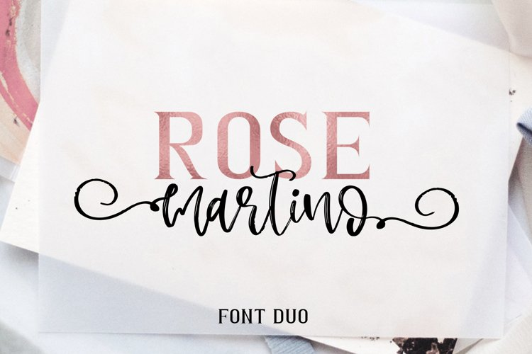 Rose Martino Font Duo example image 1