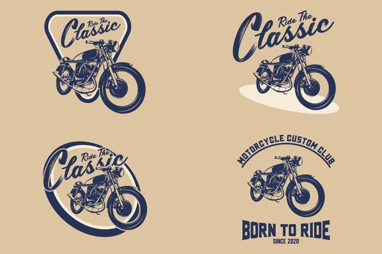 Classic custom motorcycle logo example image 1