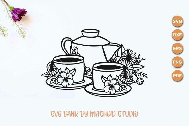 Teacup svg, coffee cup svg, teaset svg