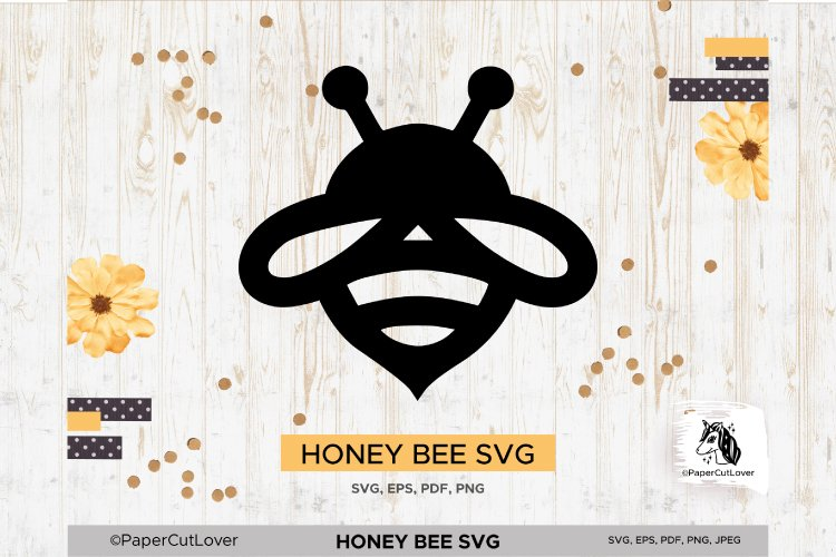 Honey Bee SVG Bumble Bee SVG Bee Cut File Bee Clipart Kids