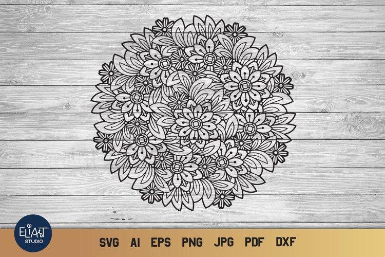 Floral Mandala SVG | Summer SVG