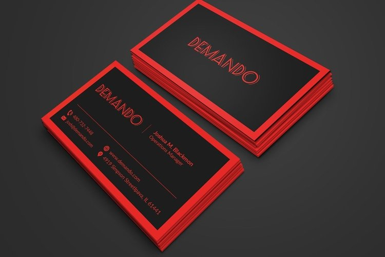 Black and Red Business Card example image 1