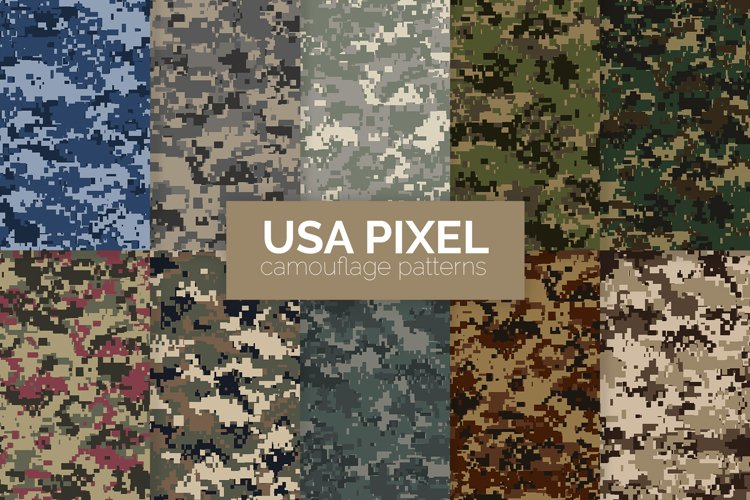 USA Pixel Camouflage Patterns example image 1