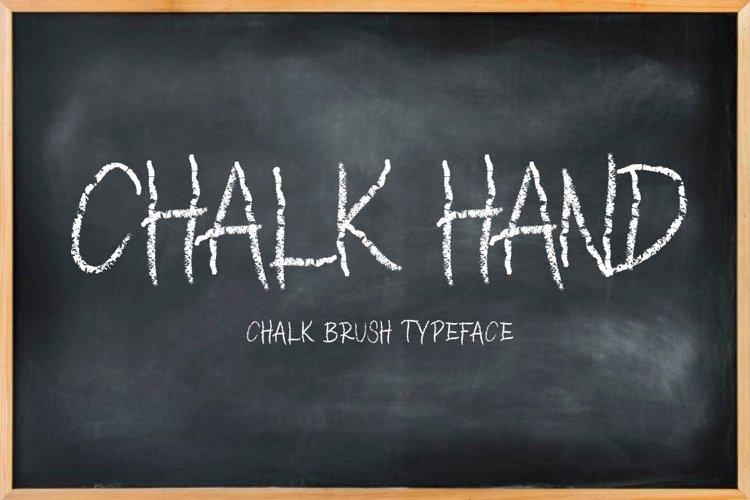 CHALK HAND - chalk font example image 1